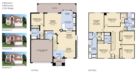 Brentwood 6 bed villa floorplan