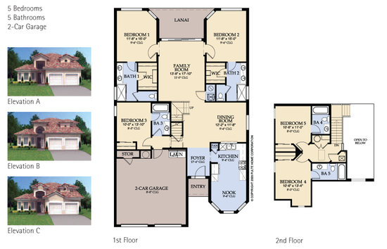 Seville 5 bed villa floorplan