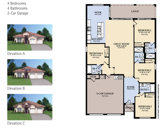 Sheldon 4 bed villa floorplan