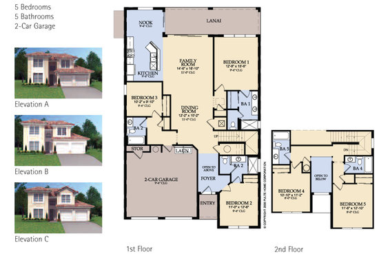 Spencer 5 bed villa floorplan