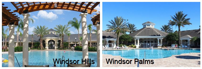 Windsor Hills resort swimming pool side by side with Windsor Palms resort swimming pool