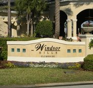 Windor Hills resort sign