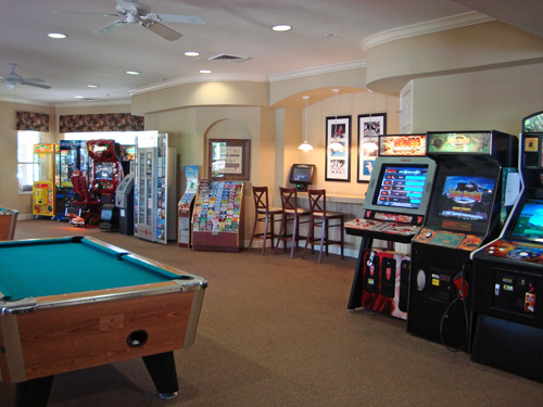 pool, billiards and video arcade room