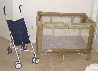 travel cot crib and stroller