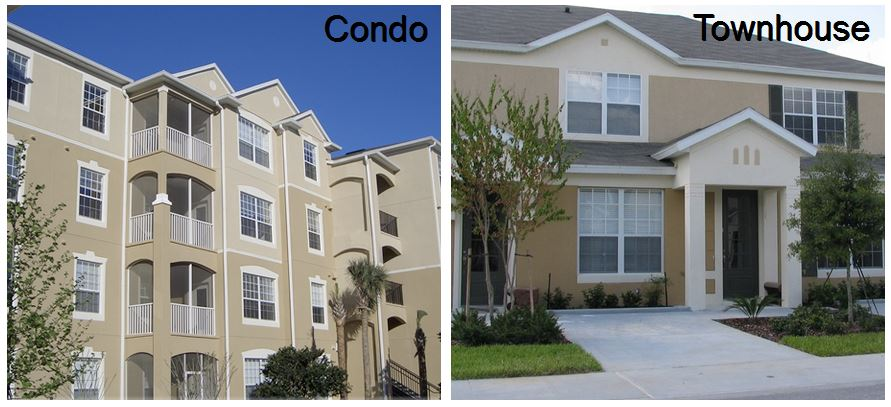 Windsor Hills condo compared with Windsor Hills townhome